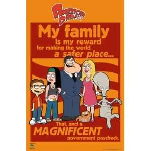 AMERICAN DAD MY FAMILY CAST POSTER 24X 36 #1142: Home & Kitchen