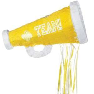 Lets Party By YA OTTA PINATA Yellow Megaphone Pull String