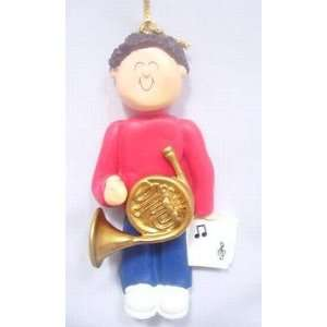 French Horn Male with Brown Hair Beauty