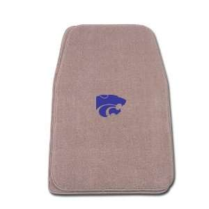 Universal Fit Front Two Piece Floormat with NCAA Kansas State Logo