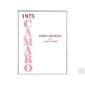1975 CHEVROLET CAMARO Wiring Diagrams Schematics Automotive
