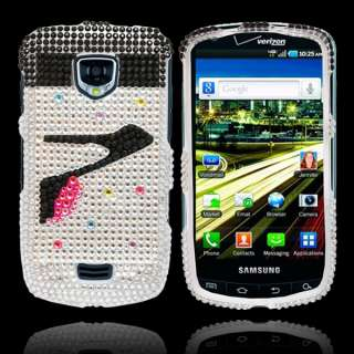 Bling Diamond High Heels Hard Case Cover For Samsung Droid Charge i510