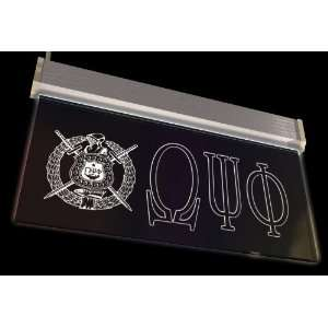 Omega Psi Phi Crest Neon Sign Patio, Lawn & Garden