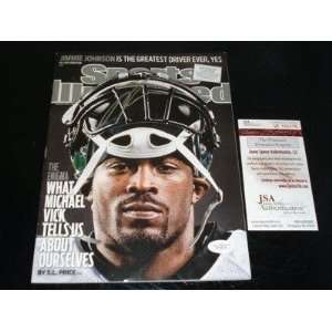 MICHAEL VICK Autographed Sports Illustrated Eagles JSA