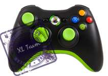 FIRE GREEN MODDED CONTROLLER GEARS 3 BLACK OPS GOW 3 DROP SHOT