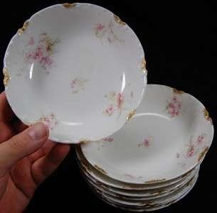 Haviland Limoges Porcelain Pink Flower Gild Lot Set 25