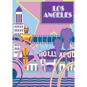 Peter Kelly   Los Angeles Size 20 x 28   Poster by Peter
