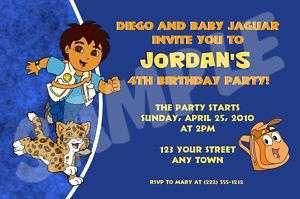 12 Go Diego Go Custom Birthday Invitations & Envelopes