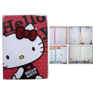Sanrio Glitter Bow 2011 Hello Kitty Agenda Book   Hello