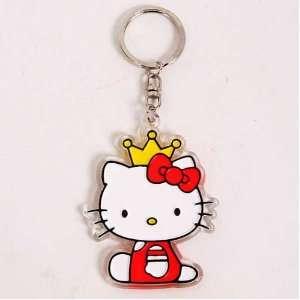 Hello Kitty Crown Keychain Key Ring Chain Keyring Toys