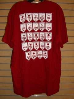 NEBRASKA CORNHUSKERS Champions Banner Tee Shirt XL
