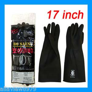 PAIRS  Industrial Heavy Duty Natural Rubber Latex Gloves : SIZE[L