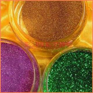 Set 30 Colors fine Glitter Dust Powder Nail Art Make Up