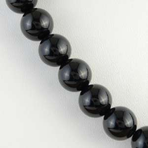 Black Onyx Hand Made Native American Beaded Necklace by Berlinda Begay