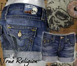 True Religion Jeans brand Womens shorts JAYDE Vintage shorts thunder