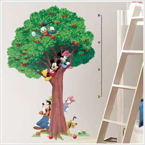 DISNEY MICKEY MOUSE GROWTH CHART Wall Stickers TREE BiG 034878034942