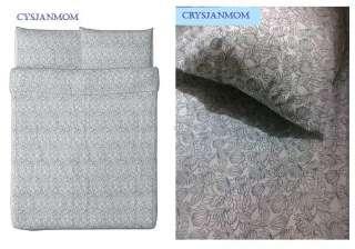 IKEA BLADVASS Full Queen Duvet Cover with 2 Pillowcases
