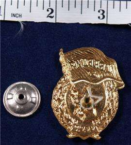 RUSSIAN WW2 STYLE GUARD BADGE UNIFORM GOLD ENAMEL MEDAL