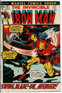clicked for larger view iron man 1968 series v1 43 1st guardsman vg fn