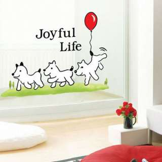 PUPPY Deco Mural Art Sticker Wall Paper SWST 15