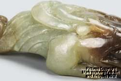 Nephrite Jade Carving of Mythical Creature, 19th Century