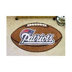 NFL NEW ENGLAND PATRIOTS FOOTBALL SHAPED DOOR MAT RUG