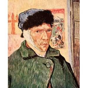 1939 Tipped In Print Vincent Van Gogh Self Portrait Ear Bandage Artist