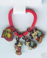 Disney   Minnie & Mickey Valentines Keychain