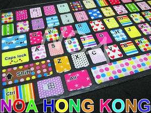 Cute Colorful English Desktop Laptop Keyboard Sticker YA