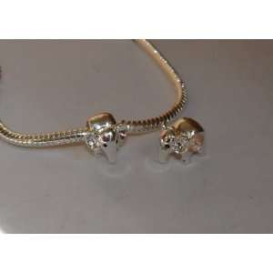 com 925 Sterling Silver Elephant Charm Bead for Bracelet or Necklace