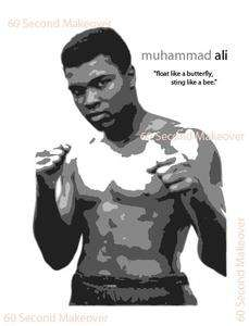 MUHAMMAD ALI WALL STICKER GRAPHIC DESIGN DECOR BOXING LEGEND MURAL