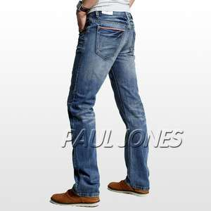 Comfort Straight Jeans Casual trousers pants Blue 29~36 MASHUP TOPS