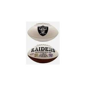 Ken Stabler Autographed Oakland Raiders Logo Football  Pre