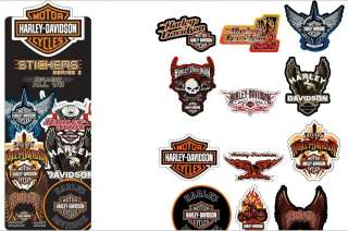 14 Harley Davidson Motorcycle Biker Decals Stickers Collection Set