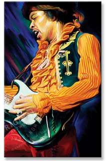 JIMI HENDRIX Signed Original CANVAS PAINTING 30 x 18