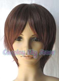 Axis Powers Hetalia S/N Italy Cosplay Short Auburn Brown Hair Wig