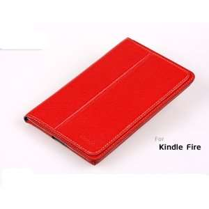 Kindle Fire Leather Case Cover by Agear, Red  Players