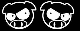 JDM Mad Pig Icon Head Drifting Car Bumper Gas Cap Decal Vinyl