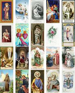 100 VINTAGE HOLY PRAYER CARDS Hi Res Scans Images on CD
