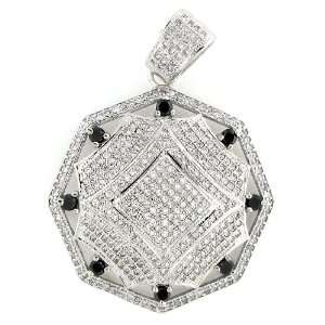 Mens & Womens Iced Out Hip Hop White Gold Plated Crystal