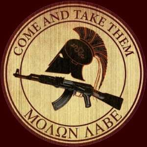 Molon Labe (Come and Take Them) Stickers: Arts, Crafts