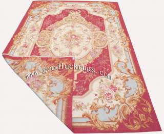 x9 French Aubusson Flat Weave Rug