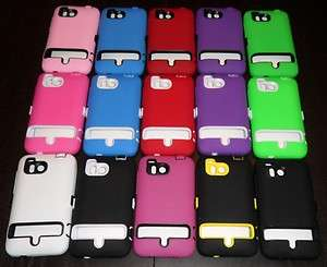 HTC THUNDERBOLT 6400 *15* COLORS HYBRID HARD SOFT COVER CASE RUGGED
