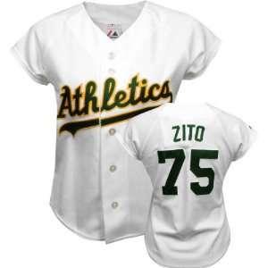 Barry Zito Majestic Replica Oakland Athletics Womens