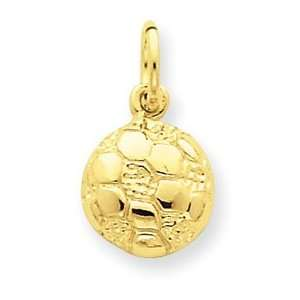 Genuine IceCarats Designer Jewelry Gift 14K Soccer Ball Charm Jewelry