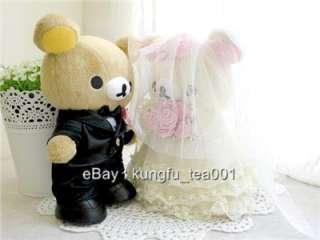 San X Rilakkuma Relax Bear Wedding Doll Plush Toy 8
