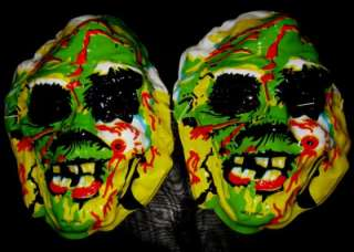 Bulk Lot 12 Plastic Zombie Face Masks New Fun Novelty Horror Party