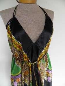 Black ~ SUN Halter Mini Dress sZ S