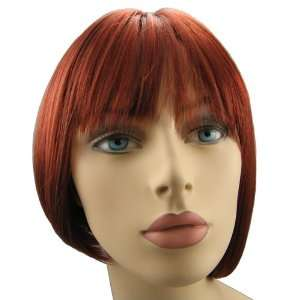 Synthetic Realistic Quality Bob Style Women wigs, Flame Red Color