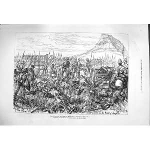1879 ZULU WAR FIELD ISANDHLWANA SOLDIERS BATTLE PRINT